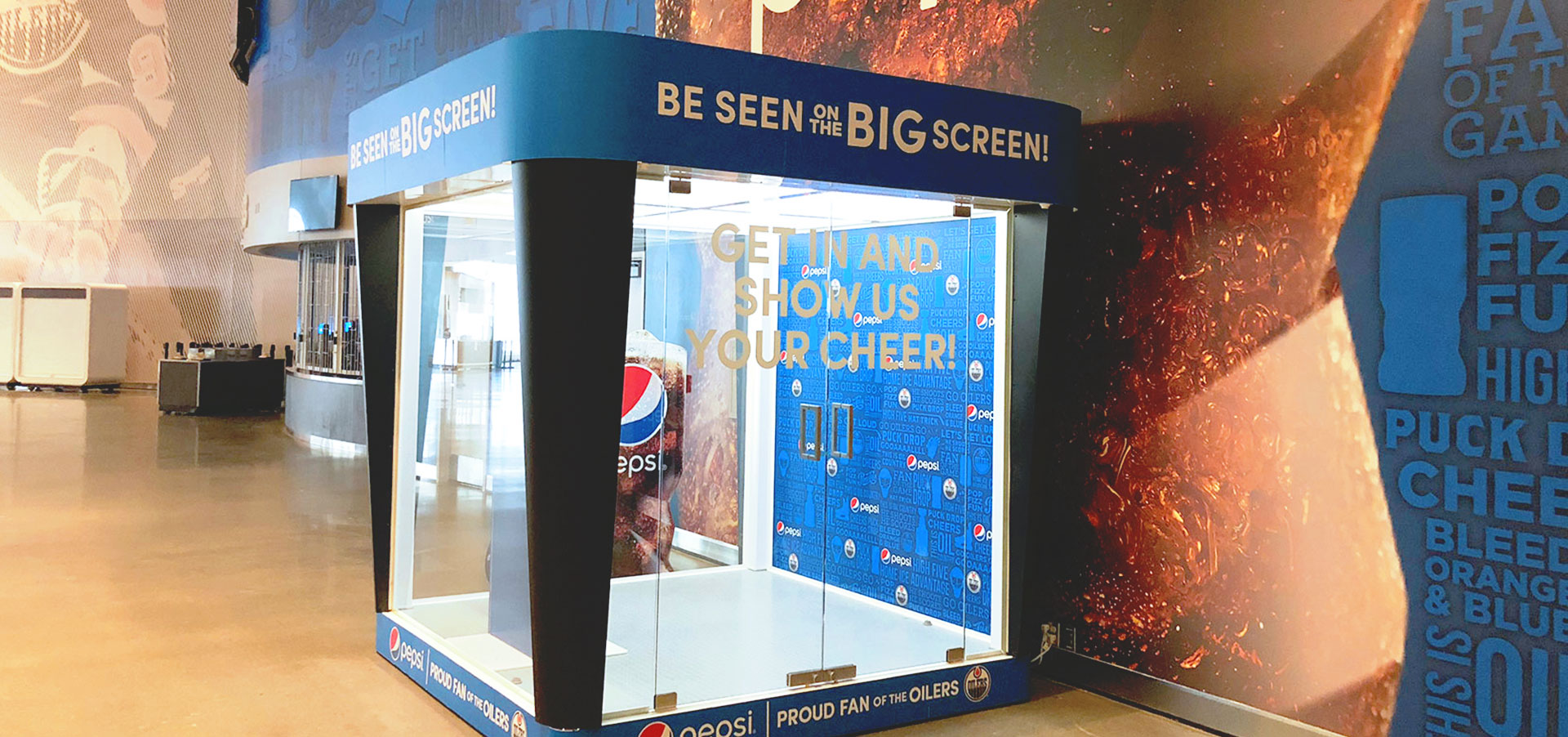 Interactive pop-up photo booth for Pepsi